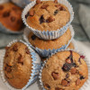 Making: Dark Chocolate Blueberry Banana Oat Muffins from Running with Spoons