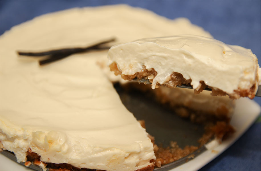 Healthy Vanilla Cheesecake #Healthy #Sugarfree #stevia
