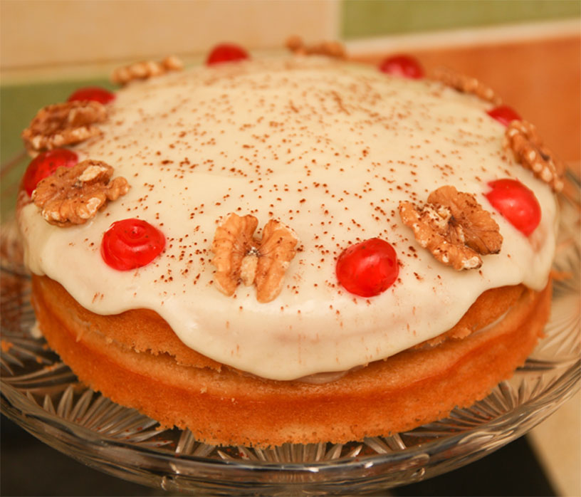 Healthy Almond Bakewell Cake #healthy #highprotein #glutenfree #refinedsugarfree