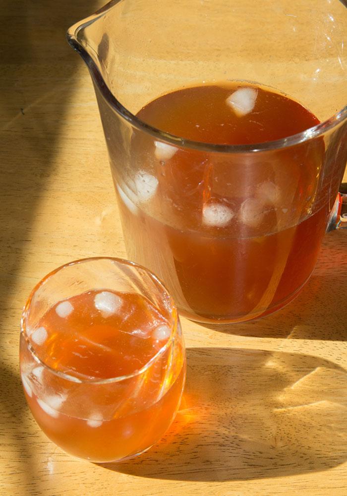 Healthy Iced Tea: Sugar-free! #healthy #icedtea #summer #picnic #sugarfree