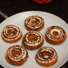 Healthy Pumpkin Cream Cheese Spiderweb Donuts - Perfect for Halloween!