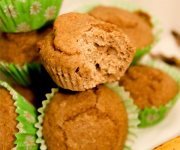 Healthy Banana Muffins - Full of fibre!